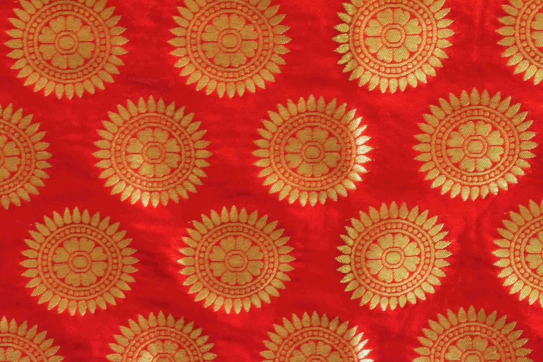 Bridal Red Banarasi Silk Party Wear Dupatta D0952 2