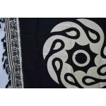 South Cotton Silk Black n White Print Dupatta Chunni DP027