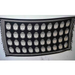 Black n White South Cotton Silk Printed Dupatta Chunni DP028