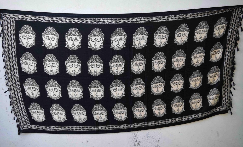 Black n White South Cotton Silk Printed Dupatta Chunni DP028 1