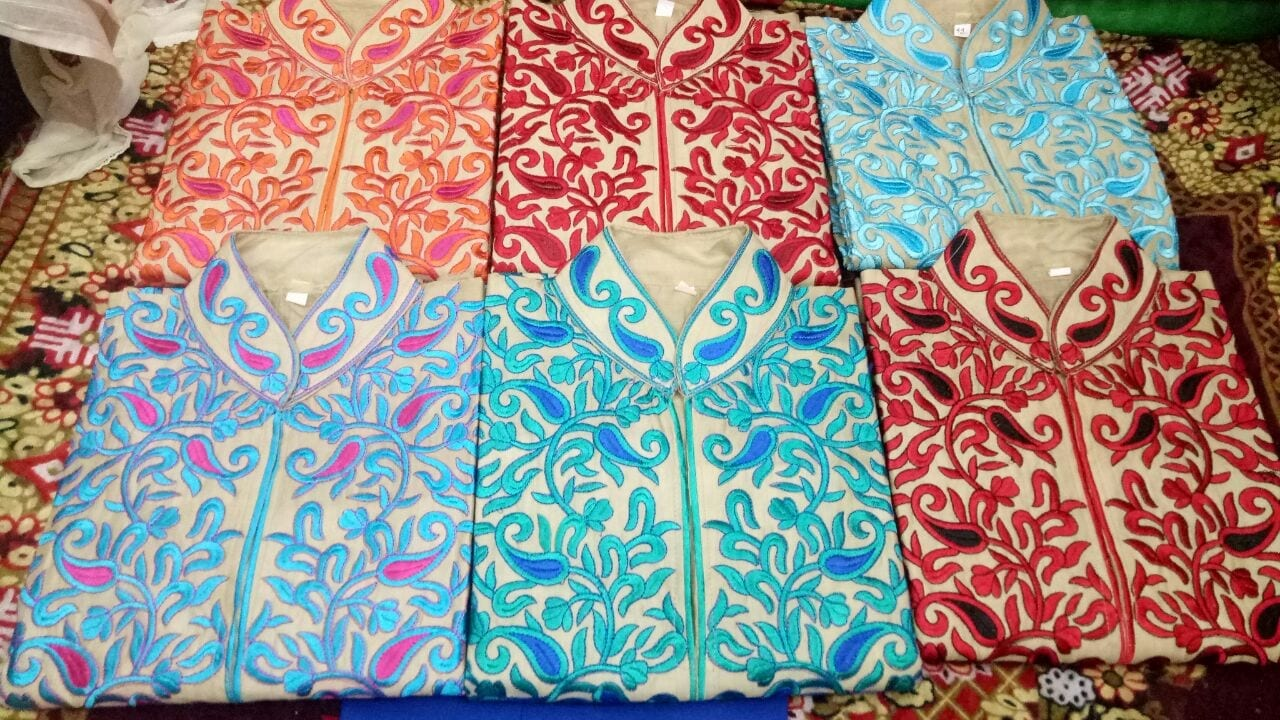Embroidered Semi Stitched Kurti Wholesale Lot of 10 Pieces 1