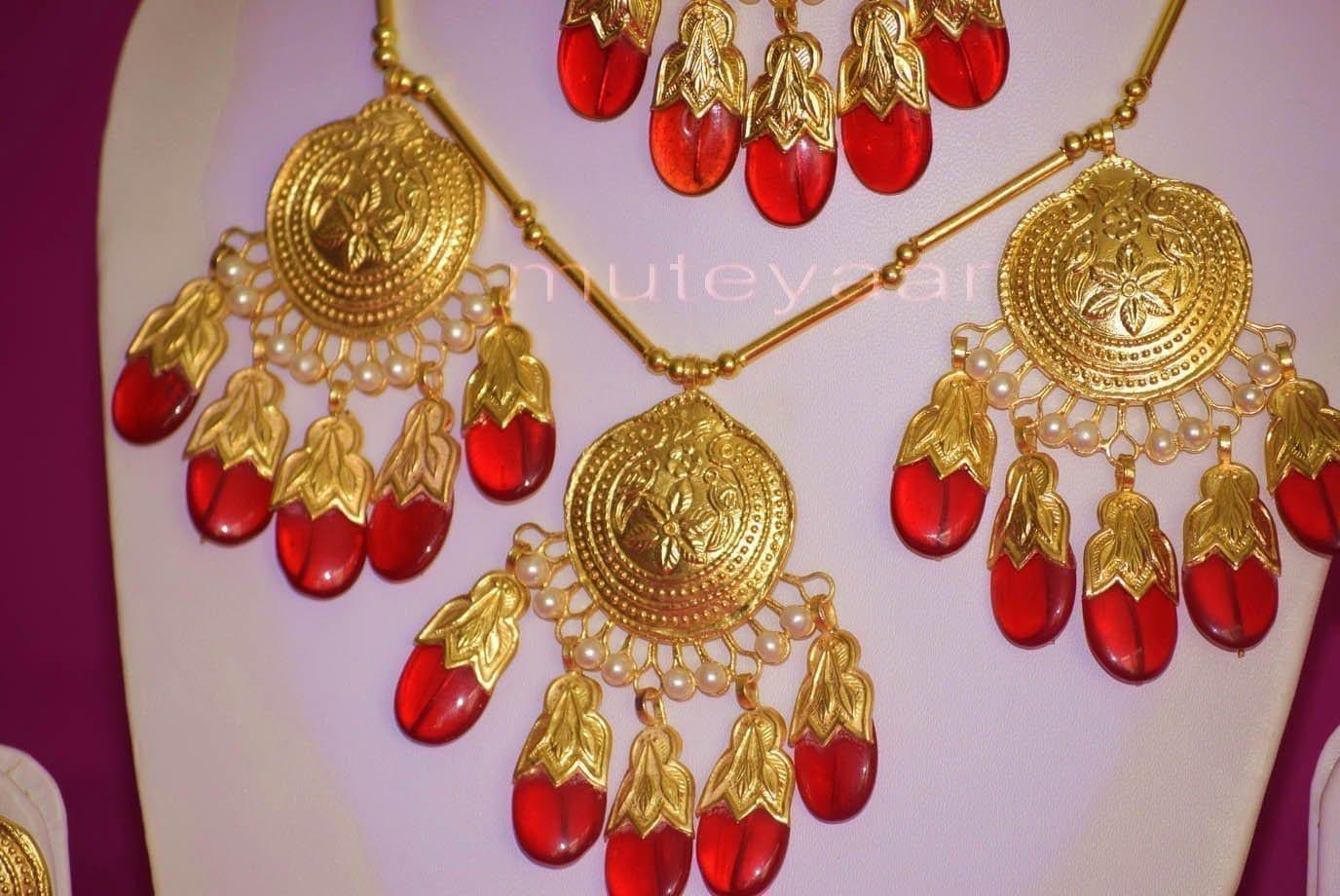 24 Ct. Gold Plated Traditional Punjabi Full Dakh Set jewellery with Tikka  J0209 2