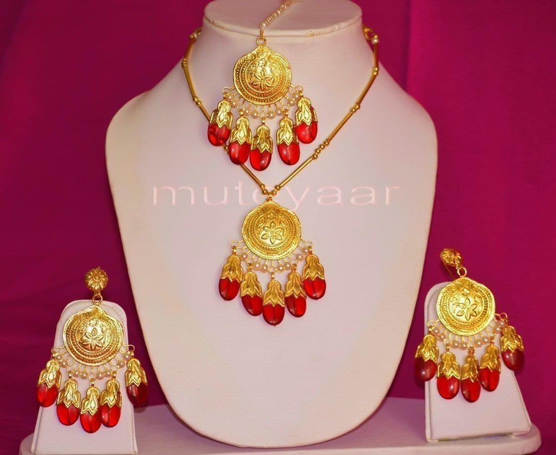 Original Gold Plated Dakh Jewellery Set J0210 5