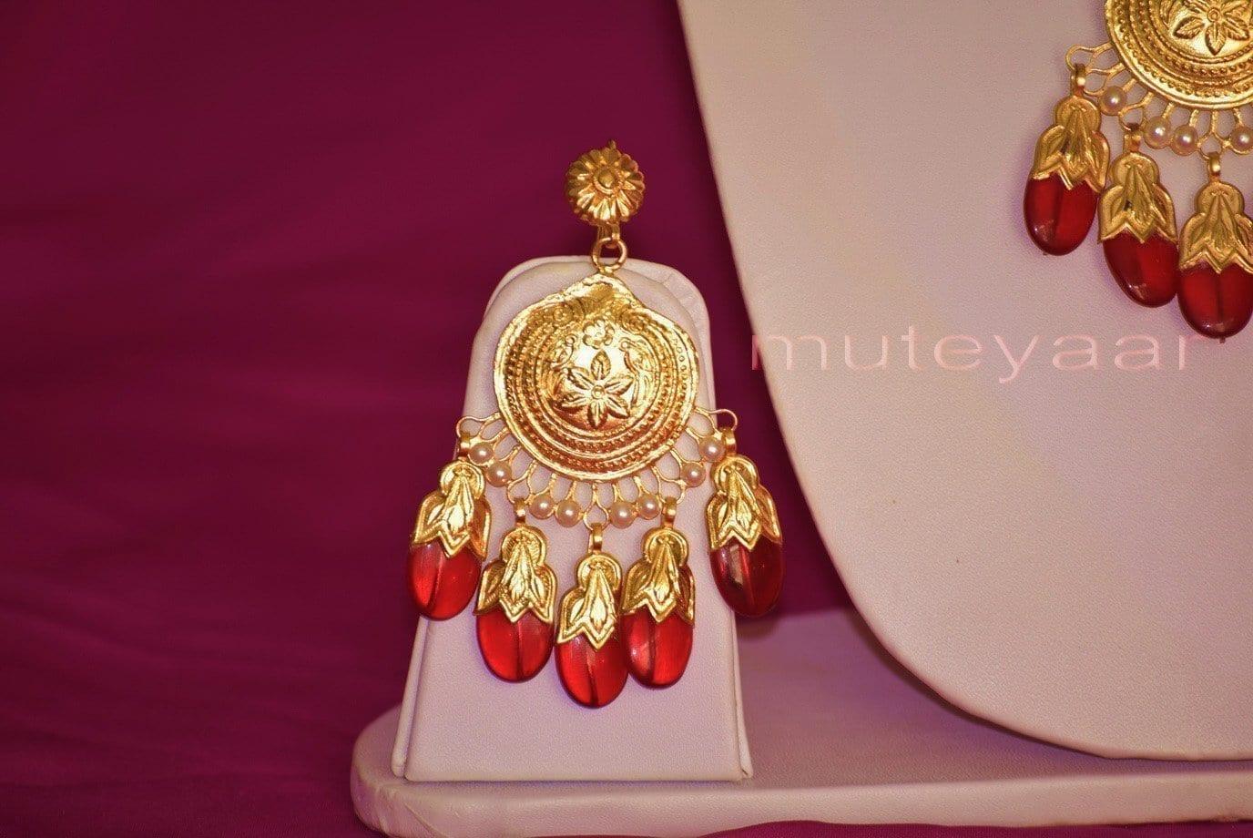 Original Gold Plated Dakh Jewellery Set J0210 3