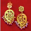 Punjabi Ambi Earrings 24 ct. Gold Plated Traditional Jhumka J0394