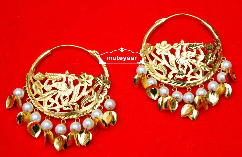 Handmade Morni Earrings 24 ct. Gold Plated Punjabi Traditional J0409 1