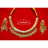 Traditional Punjabi Handmade Jwellery Hasli Necklace Earrings set J0412