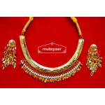 Traditional Punjabi Handmade Jwellery Hasli Necklace Earrings set J0412
