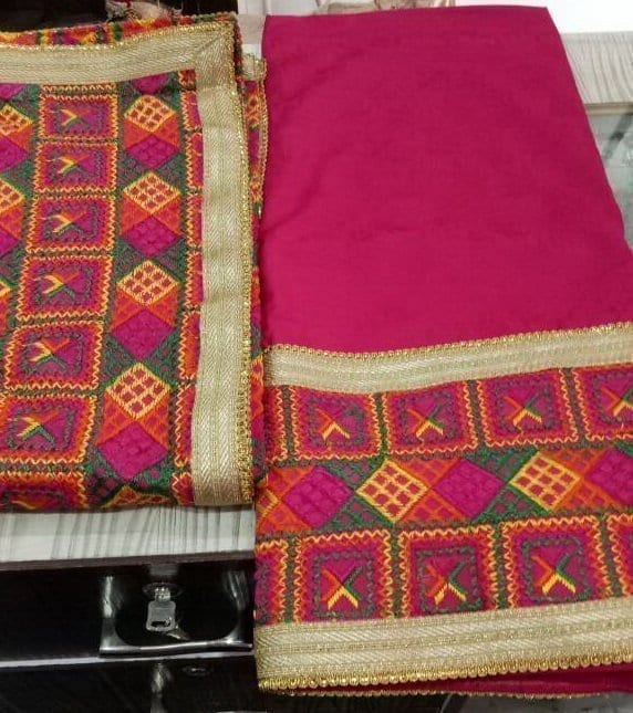 WHOLESALE LOT of 10 JHINCHAK PHULKARI SUITS Salwar Kameez Dupatta Set 2