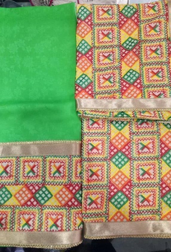 WHOLESALE LOT of 10 JHINCHAK PHULKARI SUITS Salwar Kameez Dupatta Set 5