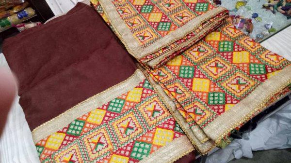WHOLESALE LOT of 10 JHINCHAK PHULKARI SUITS Salwar Kameez Dupatta Set