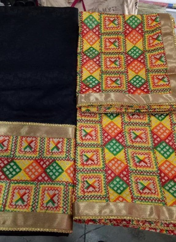 WHOLESALE LOT of 10 JHINCHAK PHULKARI SUITS Salwar Kameez Dupatta Set 8