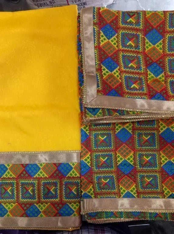 WHOLESALE LOT of 10 JHINCHAK PHULKARI SUITS Salwar Kameez Dupatta Set 10