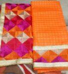 MC Bagh Check Phulkari Suits Wholesale 10 Salwar Kameez Dupatta Sets