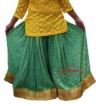 Polka Print Sharara Divided Skirt with Full Flares – all colours available.