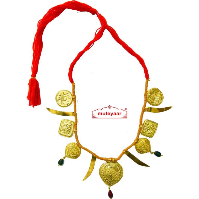 Talwar Taweet traditional golden necklace haar for Giddha Bhangra