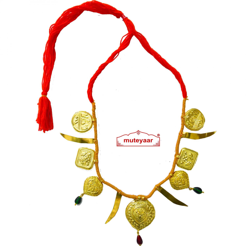 Talwar Taweet traditional golden necklace haar for Giddha Bhangra 1