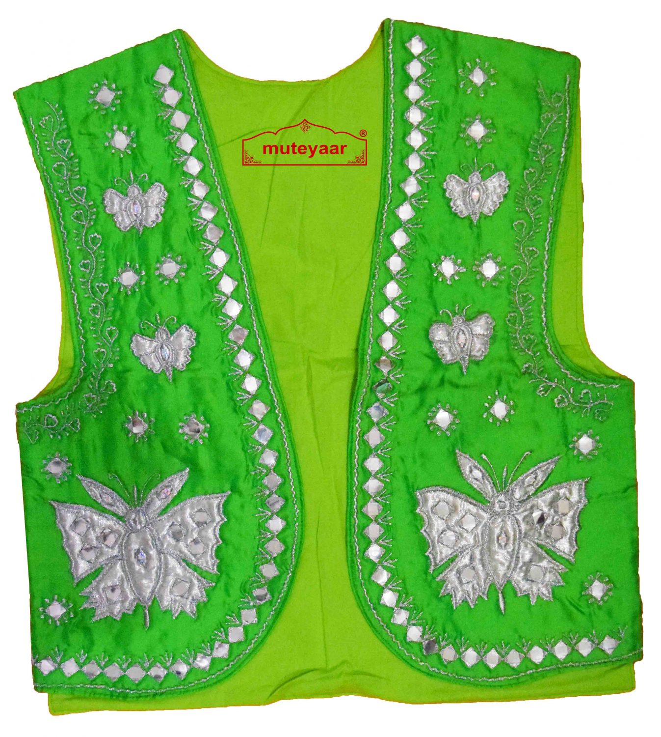 Butterfly Design Embroidered Bhangra Costume Outfit Dance Dress 2