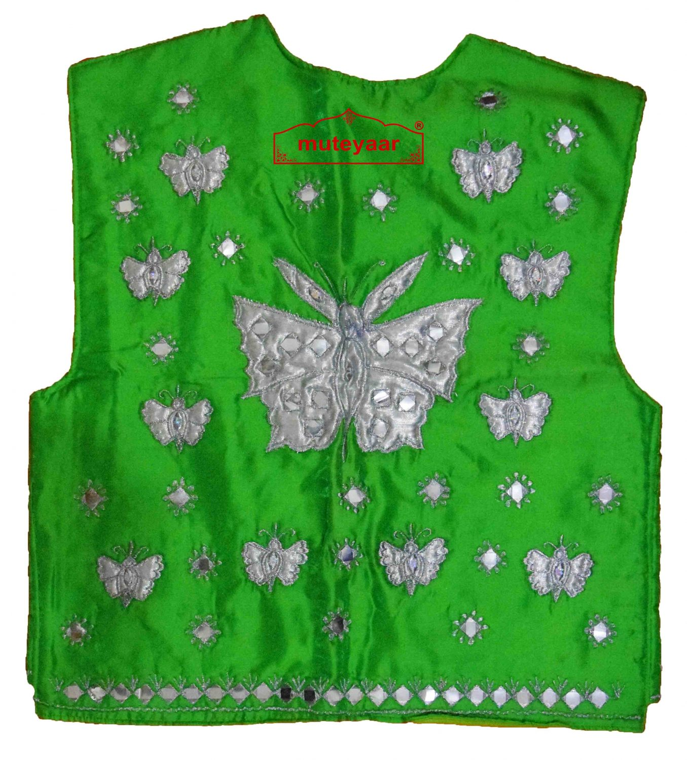 Butterfly Design Embroidered Bhangra Costume Outfit Dance Dress 3