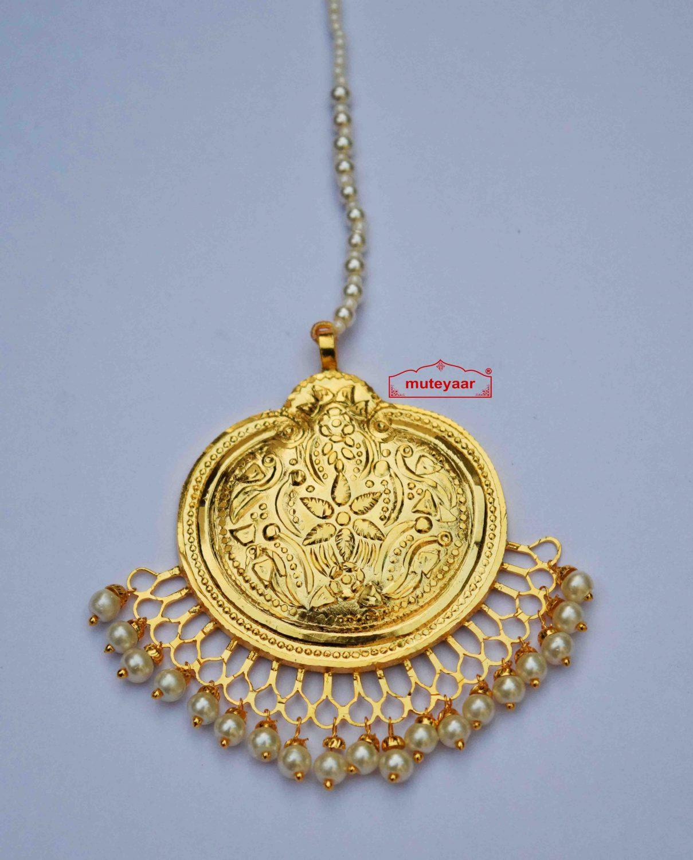 Gold Plated Traditional Punjabi Handmade  Tikka J0414 1
