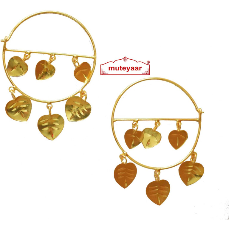 Pipal Pattiyaan Earrings set for giddha bhangra J0428