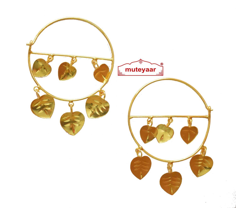 Pipal Pattiyaan Earrings set for giddha bhangra J0428 1