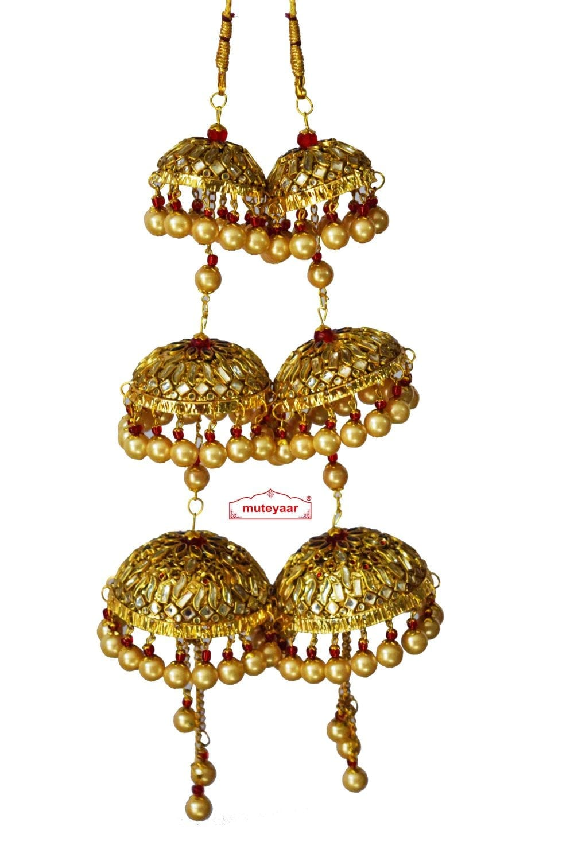 Kundan Work Wedding Fancy Kaleera For Punjabi Bride J0913 1