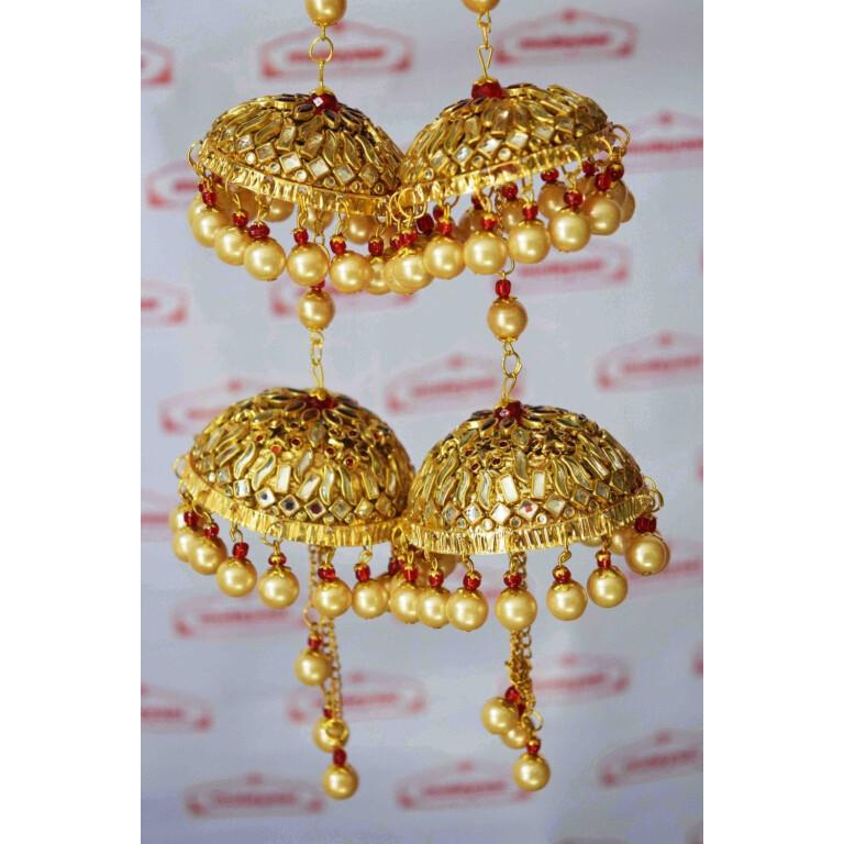 Kundan Work Wedding Fancy Kaleera For Punjabi Bride J0913