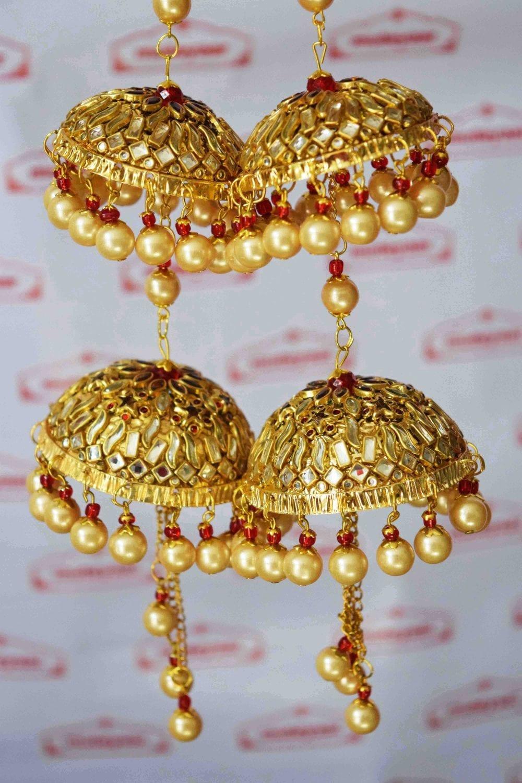 Kundan Work Wedding Fancy Kaleera For Punjabi Bride J0913 2