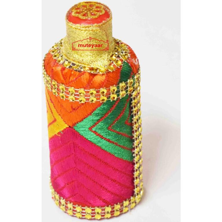 Kuppi with Phulkari embellishment for Welcome in Punjabi Wedding