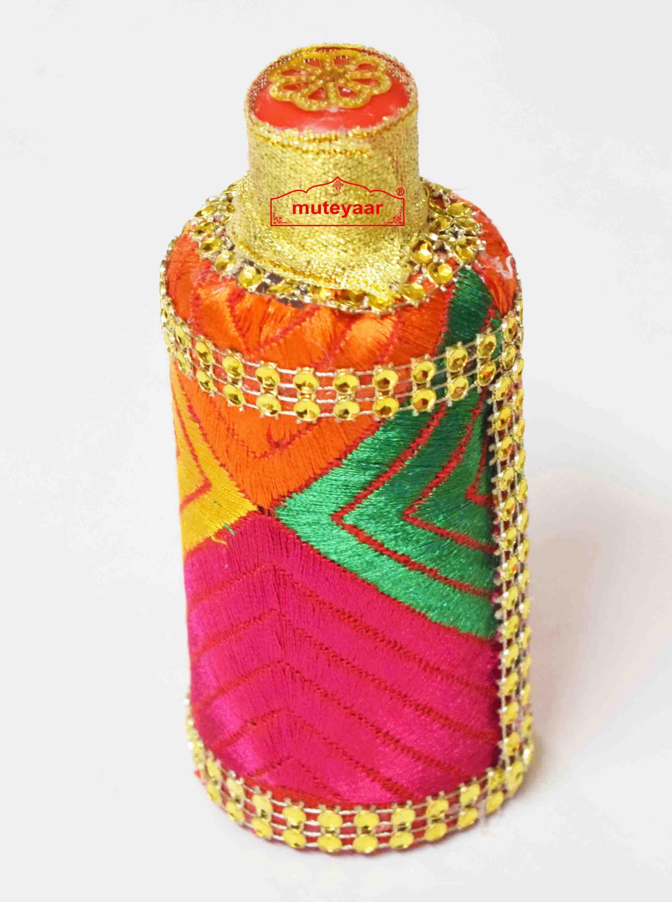 Kuppi with Phulkari embellishment for Welcome in Punjabi Wedding 1