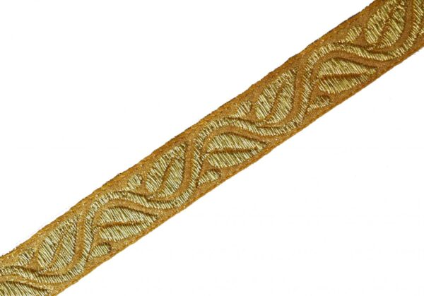 Two Colour Golden Gota Lace width 20mm Roll of 9 mtrs. LC173
