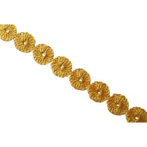 Golden Designer Tikki Gota Lace width 1 inch Roll of 9 mtrs. LC174