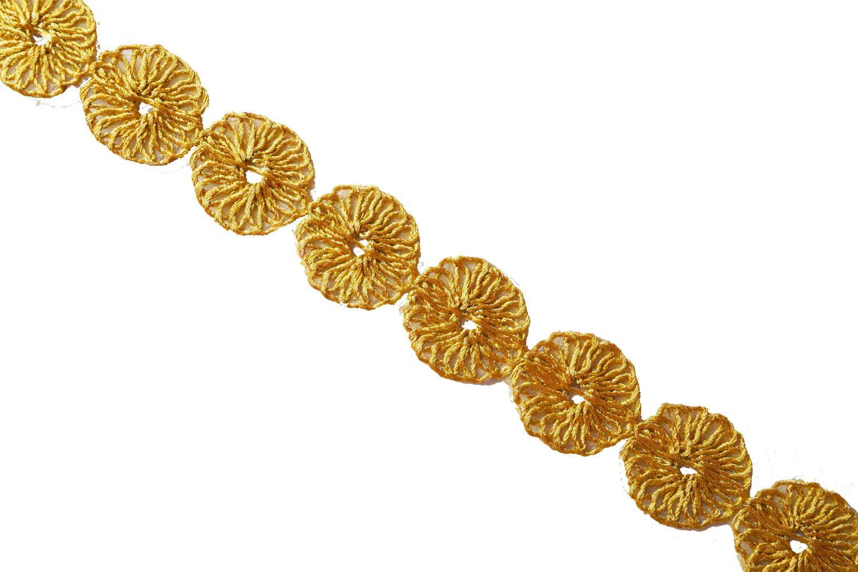 Golden Designer Tikki Gota Lace width 1 inch Roll of 9 mtrs. LC174 1