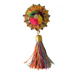 Multicolour Buttons with Tassel Latkans LK074