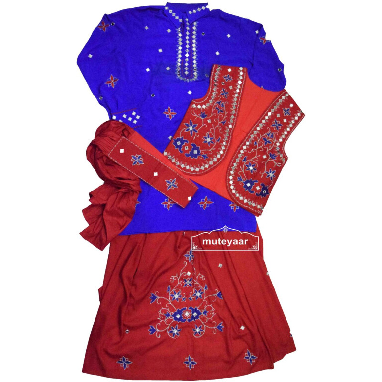 Embroidered Bhangra Costume Outfit Dance Dress for Men