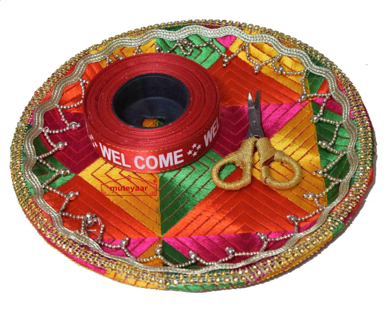 Thali Set for Ribbon Cutting Ceremony in Punjabi Wedding 1