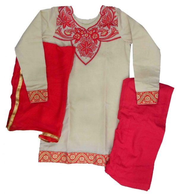 Patiala Suit Custom Made Replica Design with Chiffon Dupatta RS026