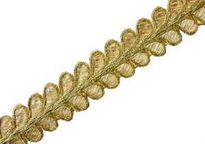 Golden Leaves Gota Patti Lace width One inch Roll of 9 mtrs. LC177