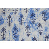 White Blue GLAZED COTTON Printed Fabric for Multipurpose use (per meter price) GC002