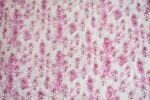 White Pink Printed Glazed Cotton Fabric for Multipurpose use GC004