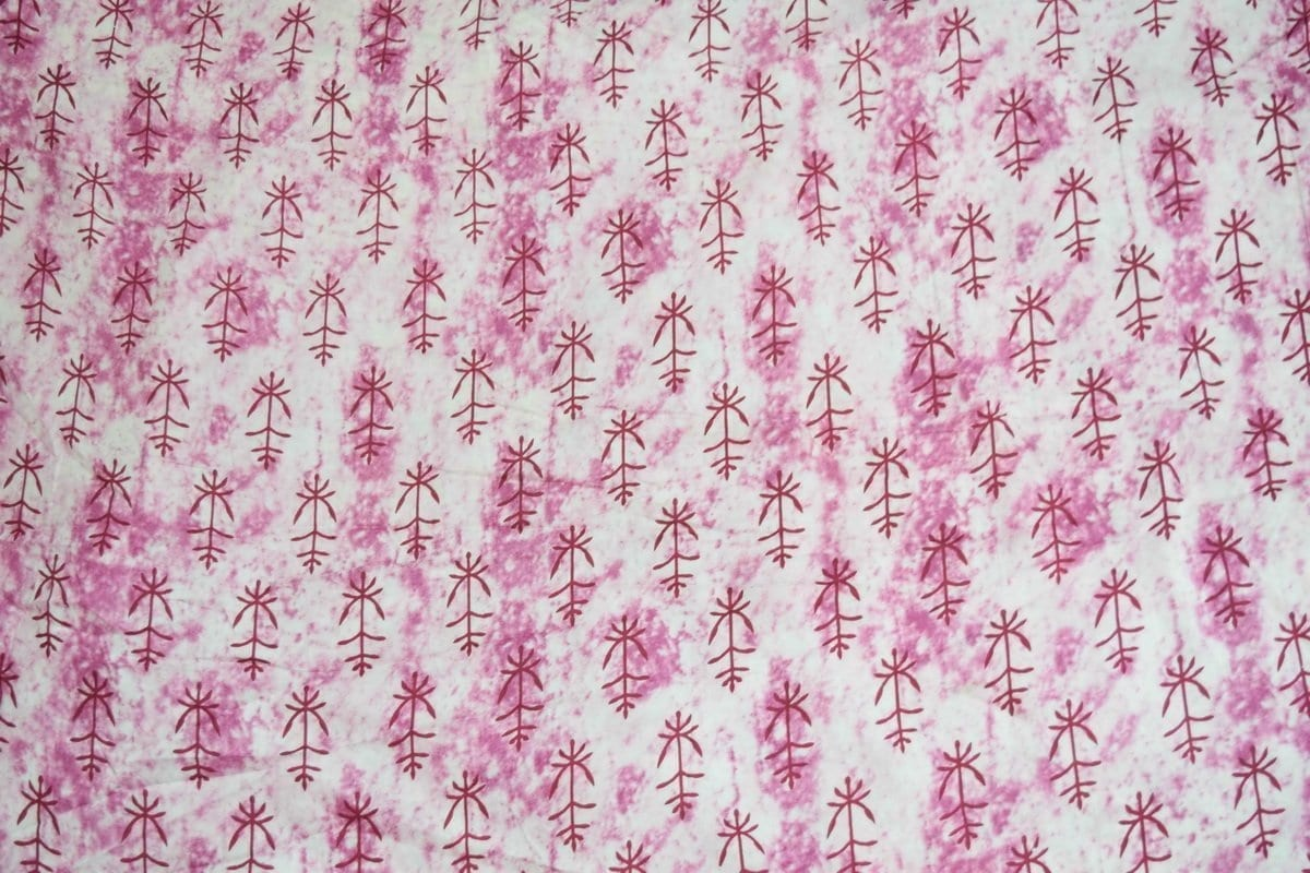 White Pink Printed Glazed Cotton Fabric for Multipurpose use GC004 2