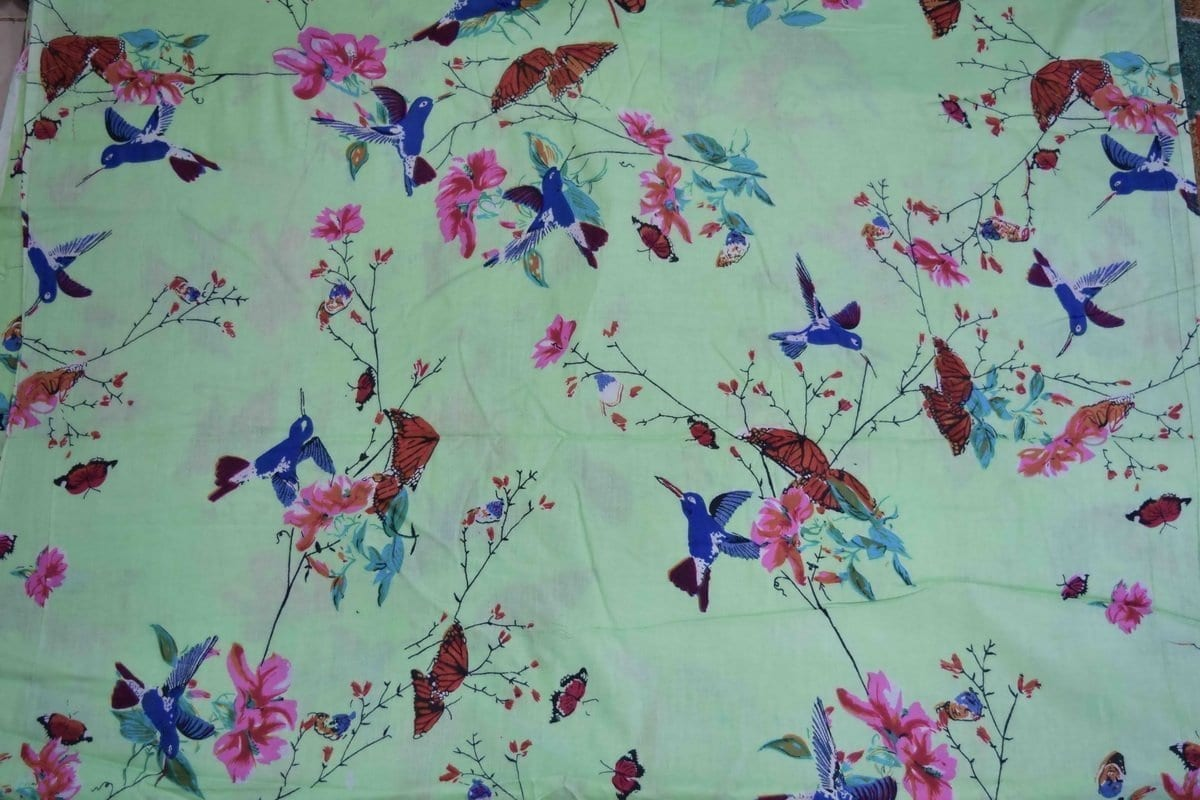 Light Green Printed Glazed Cotton Fabric for Multipurpose use GC006 2