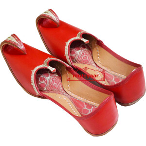 Red Punjabi Jutti Khussa for Men PJ9818