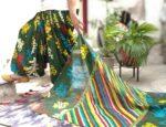 Floral Print Multicolour Patiala Salwar Dupatta Set Pure Cotton PSD252