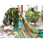Floral Print Multicolour Patiala Salwar Dupatta Set Pure Cotton PSD252