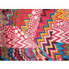 Red Printed Glazed Cotton Fabric for Multipurpose use (per meter price) GC009