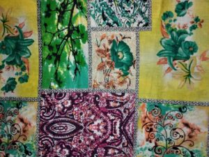 Multicolour Printed Glazed Cotton Fabric for Multipurpose use GC010
