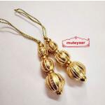 Golden Balls Gota Patti Latkans Dangle Pair Size 2 inch long LK082