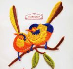 Love Birds Embroidered Motif Badge for multipurpose use MT0021